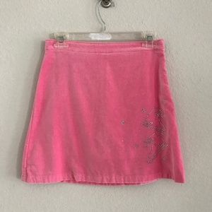 Land's End Pink Rhinestone Ice Skate Skirt